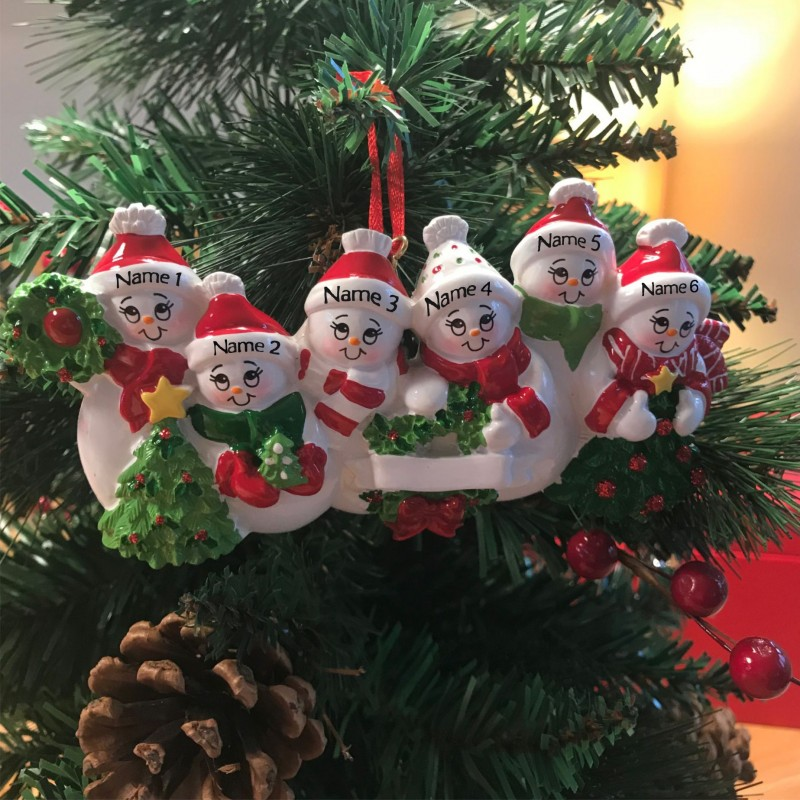 Christmas Tree Decorations Names.Snowman Family 6 Peeps