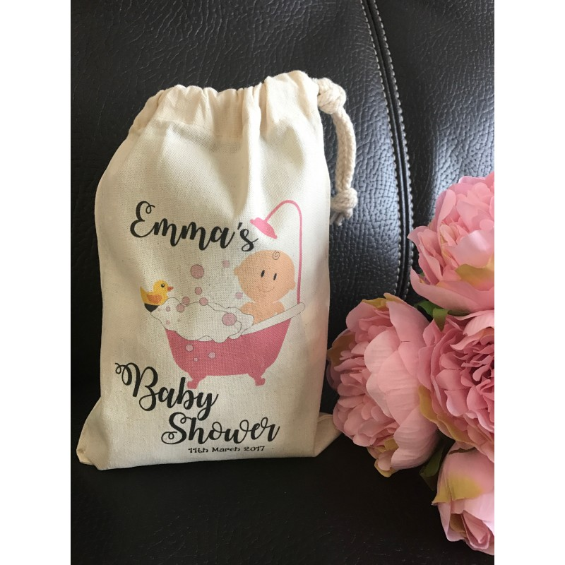 Personalised gift bag personalised baby shower gift bag various sizes available emma design baby girl negle Gallery