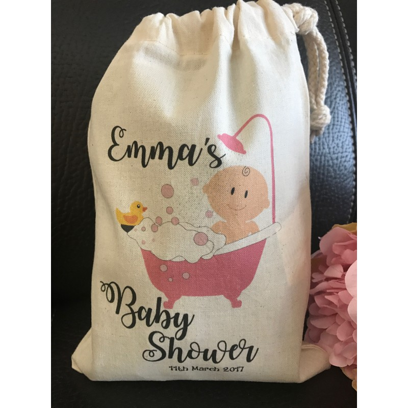 Personalised gift bag personalised baby shower gift bag various sizes available emma design baby girl negle