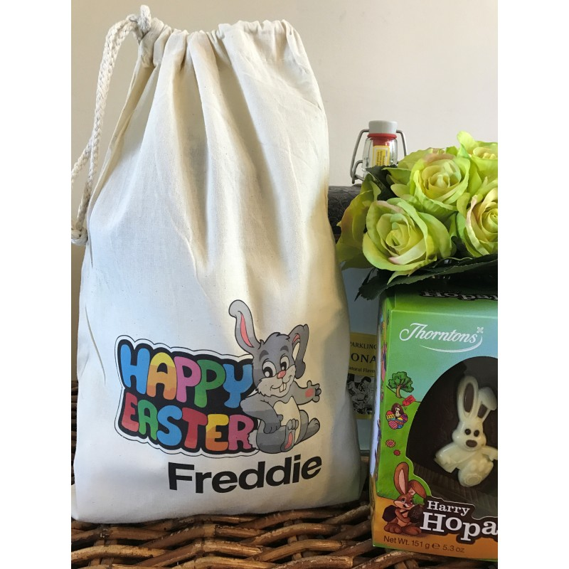 Gift bag personalised easter bunny gift bag freddie design negle Images
